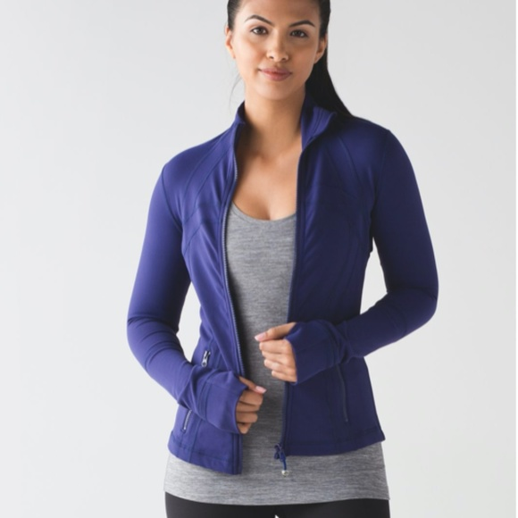 Lululemon Define Jacket Emperor Blue, Size 6